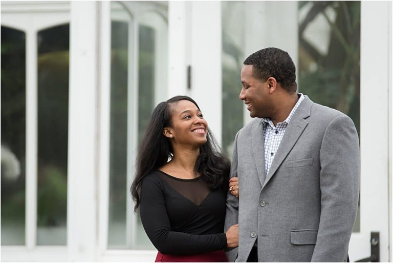 Phipps conservatory Pittsburgh Engagement session.