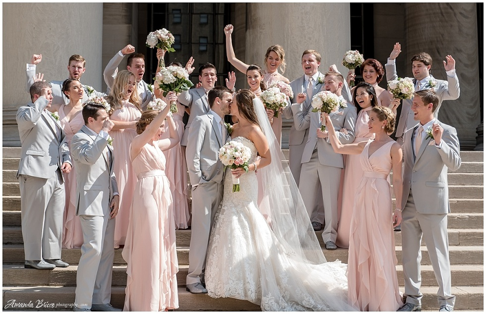 Bridal party pictures in pittsburgh