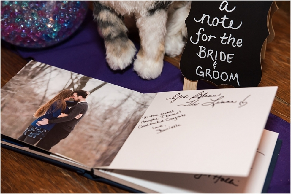 Custom guestbook from engagement session.