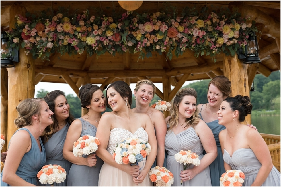 Bridal party at the Gathering Place Pittsburgh wedding photographer.