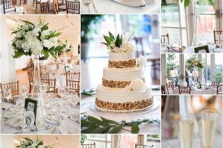 Wedding reception details at Phipps conservatory.