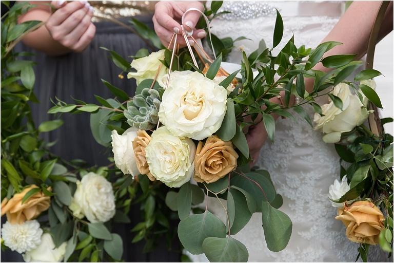 Bridal bouquet from Rustic Acres Farm wedding