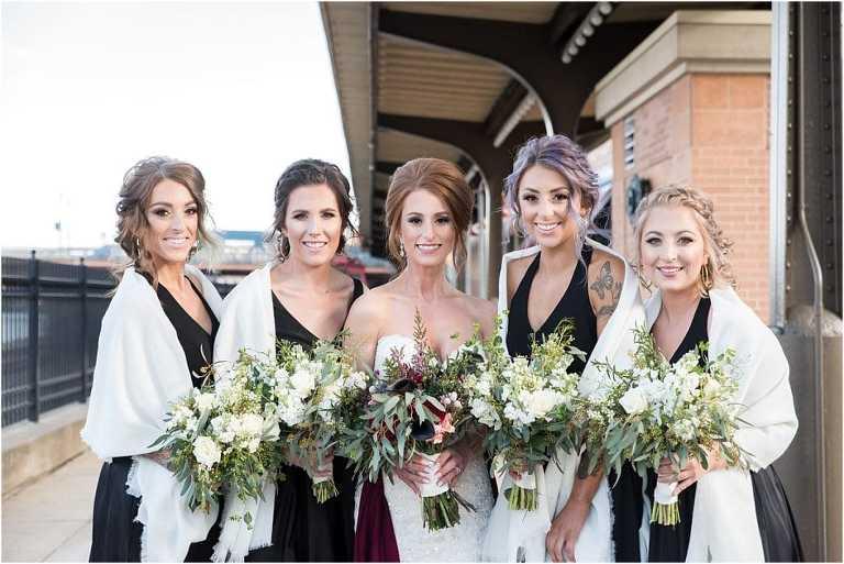 Wedding portraits for the Sheraton Pittsburgh Hotel wedding.