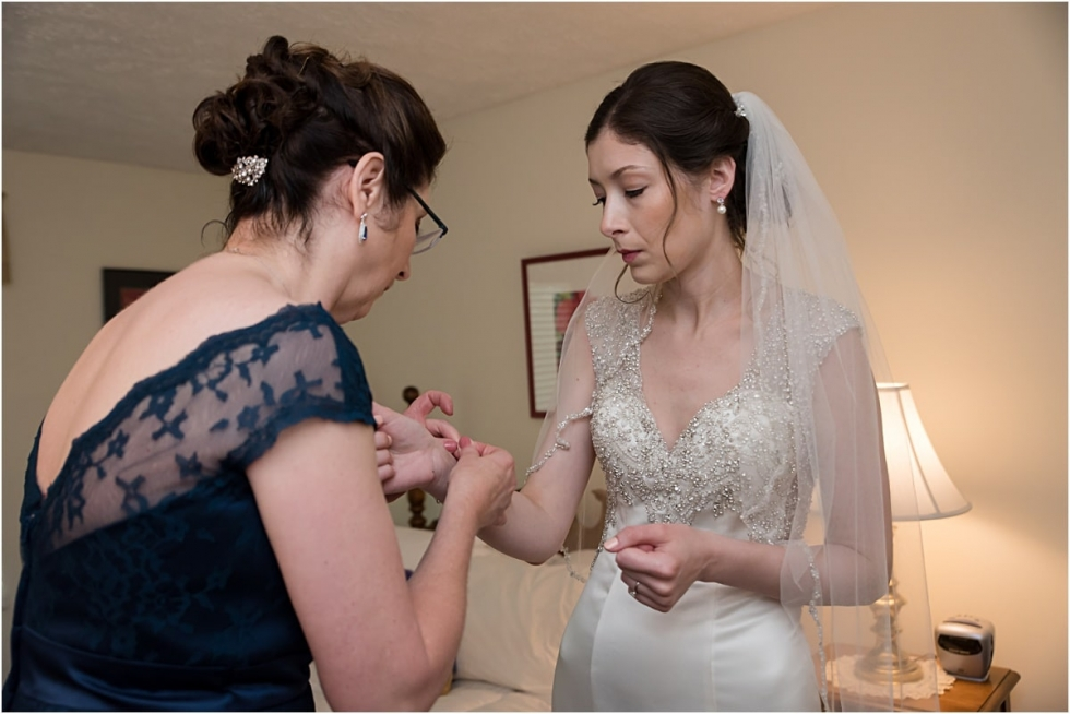 Bride getting ready for Greystone Fields wedding