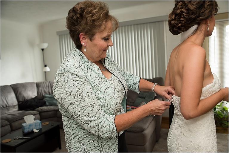 Bride getting ready The Atrium Wedding.