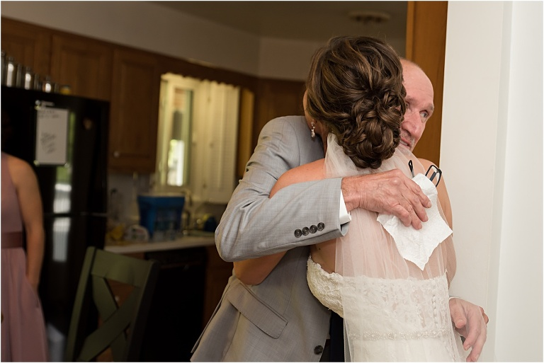 Bride with her Dad for The Atrium Wedding.