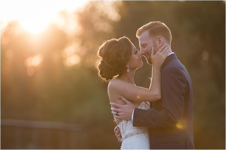 Sunset wedding portraits at the Atrium Wedding.