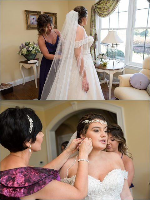 Sewickley Heights Golf Club Wedding bridal prep..