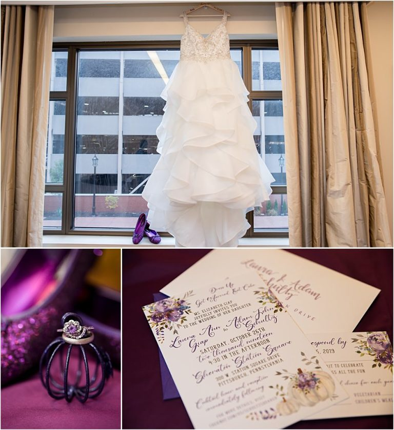 Wedding Details for the Sheraton Station Square Wedding.